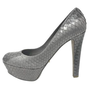 Sergio Rossi Grey Python Heels