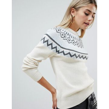 Fashion Union Sweater With Fairisle Placement