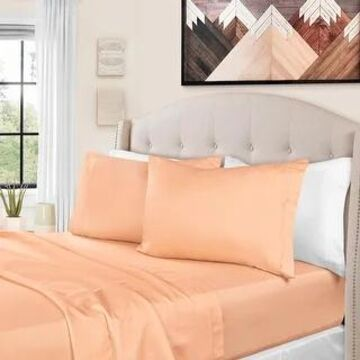 Superior Egyptian Cotton 1500 Thread Count Solid Bed Sheet Set (King - Dusted Rose)
