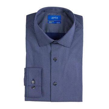 Men's Apt. 9 Premier Flex Slim-Fit Spread-Collar Dress Shirt, Size: 2XL-34/35, Blue