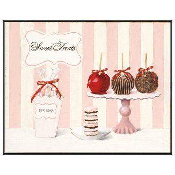 PTM Images, Parlour Shoppe Sweet Treats Framed Canvas Art, 41.75