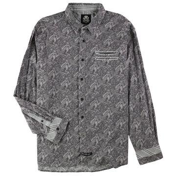 English Laundry Mens Paisley Button Up Shirt