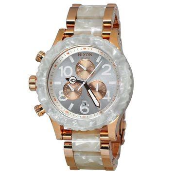 Nixon Unisex A037-1046 '42-20 Chrono' Chronograph Two-Tone Stainless Steel, Granite Watch