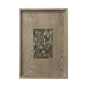 A&B Home Wood and Glass Tray Wall Art
