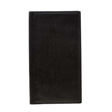 Loro Piana Black Leather My Jacket Pocket Wallet