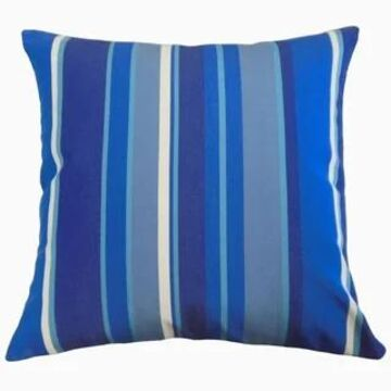 The Pillow Collection Xanto Striped Decorative Throw Pillow (Blue - 24 x 24 - Square)