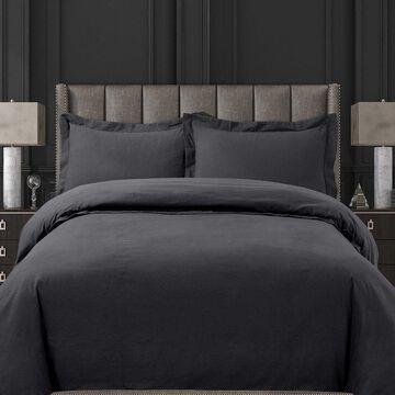 Tribeca Living Ultra-Soft Cotton Flannel Solid Oversized Duvet Cover Set