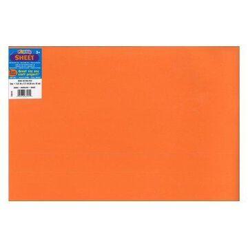Darice Foamies Sheet 12x18 2mm Orange (pack of 10)