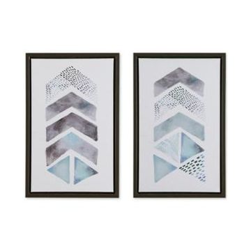 Urban Habitat This and That Way 2-Pc. Framed Gel-Coated Canvas Print Set