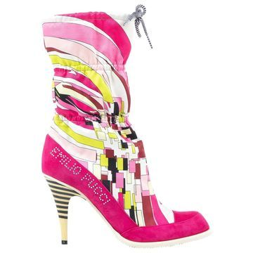 Emilio Pucci Pink Polyester Boots