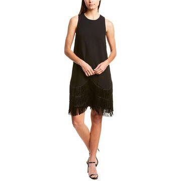Lela Rose Fringed Wool-Blend Dress