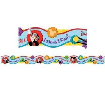 Eureka Deco Trim Mickey Mouse Clubhouse I Think I Can Extra Wide Cut Borders, 222ft.