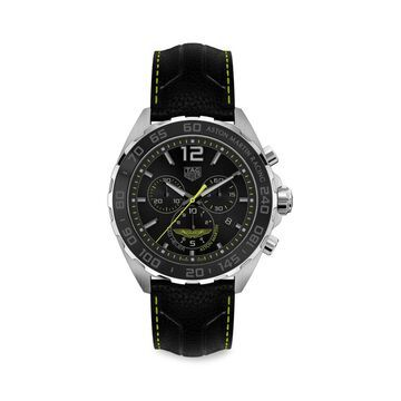 Formula 1 Aston Martin Special Edition 43MM Stainless Steel & Leather Strap Quartz Tachymeter Chronograph Watch