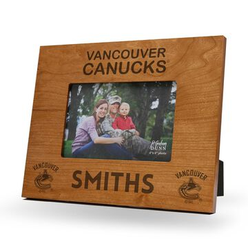 Sparo Vancouver Canucks Brown 9.75'' x 7.75'' Personalized Wood Picture Frame
