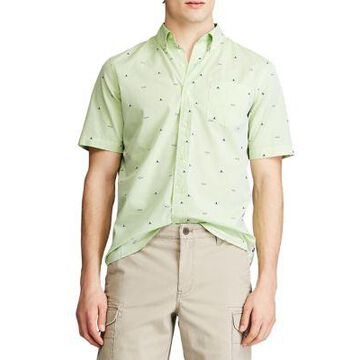 Chaps Men's Performance Short Sleeve Easy Care Button Down Shirt - -