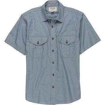 Filson Men's Short Sleeve Feather Cloth Shirt - Small - Smoke Blue