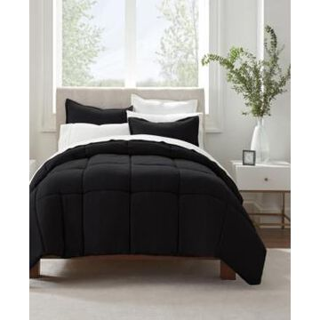 Serta Simply Clean Antimicrobial King Comforter Set, 3 Piece Bedding
