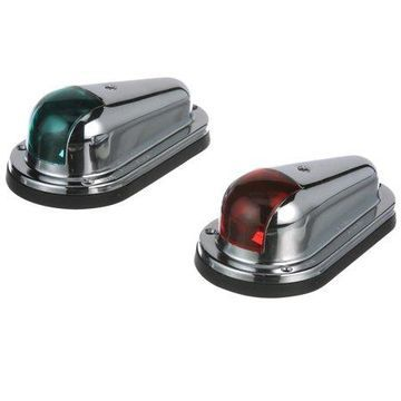 Seachoice Chrome/Brass Side Lights, Sold as a Pair
