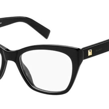Max Mara MM 1299 807 Womenas Glasses Black Size 53 - Free Lenses - HSA/FSA Insurance - Blue Light Block Available