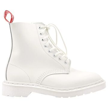 Dr. Martens White Leather Boots