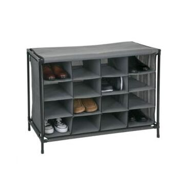 Simplify 16 Compartment Shoe Cubby in Gray