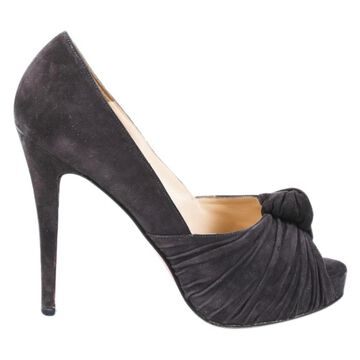 Christian Louboutin Grey Suede Heels