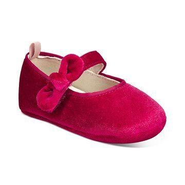 Baby Girls Velvet Bow Shoes, Created For Macy's