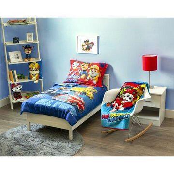 Paw Patrol 4-Piece Toddler Bedding + Blanket Bundle Set