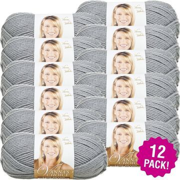 Lion Brand Vanna's Choice Yarn - 12/Pk-Silver Grey