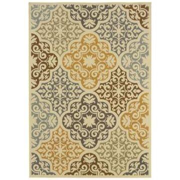 Oriental Weavers Bali 4904W Ivory/Gray 2'5