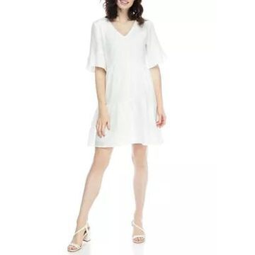 Ronni Nicole Women's Bell Sleeve Gauze Shift Dress -