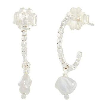 Chan Luu Sterling Silver Earrings with Freshwater Pearl Drop Earring