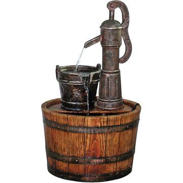Design Toscano Cistern Well Pump Barrel GardenFountain