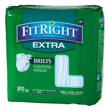 Medline FitRight Extra Briefs Large