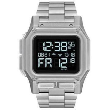 Nixon Men's Digital Regulus Stainless Steel Bracelet Watch 46mm