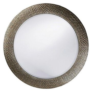 Howard Elliott Bergman Round Mirror, Silver