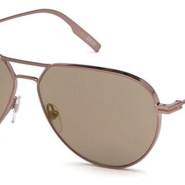 Ermenegildo Zegna EZ0129F Asian Fit 36Q Men's Sunglasses Brown Size 61