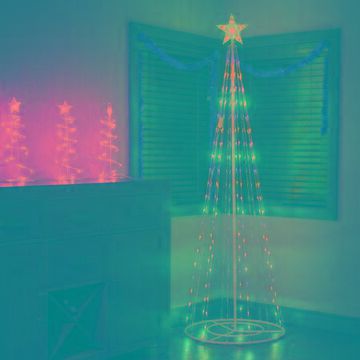 Alpine Corporation Artificial Christmas Tree with Glowing Star Topper