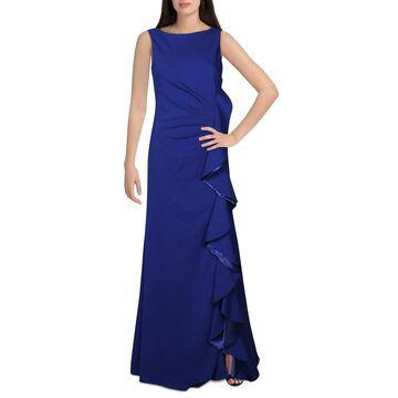 Carmen Marc Valvo Womens Evening Dress V-Back Sleeveless