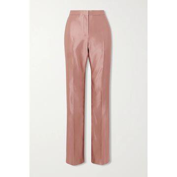 Alexander McQueen - Duchesse Silk-satin Straight-leg Pants - Pink