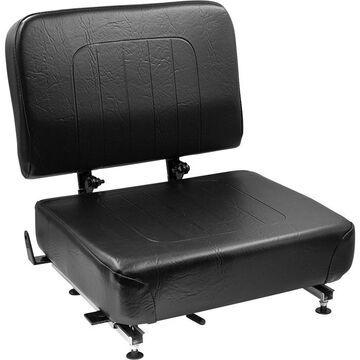 Wise Industrial Universal Folding Forklift Seat Black, Model 1745P