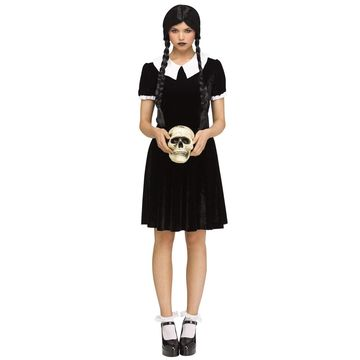 Fun World Gothic Girl Adult Costume-Medium/Large