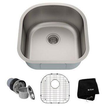 KRAUS Premier 20-inch 16 Gauge Undermount Single Bowl Stainless Steel Kitchen Sink