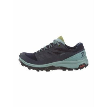 Colorblock Pattern Sneakers Blue