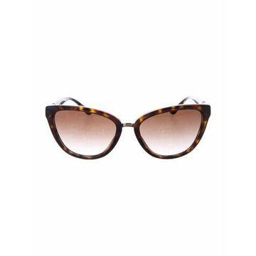 Tinted Cat-Eye Sunglasses Brown