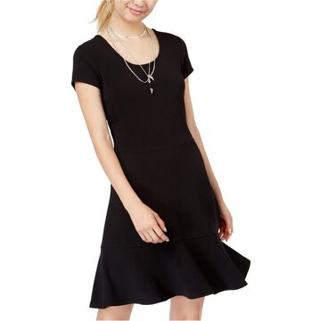 Planet Gold Womens Scoop Back Fit & Flare Dress