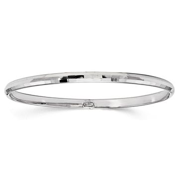 Versil 10 Karat White Gold Polished Bangle
