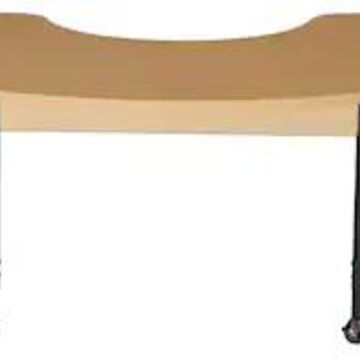 Wood Designs Mobile 22 x 64 Half Circle High Pressure Laminate Table with Adjustable Legs 20-31 (HPL | Quill