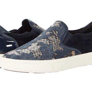 Vaneli Opie (Blue Kepra Hairy Calf/Navy Suede/Patent/Nappa) Women's Shoes