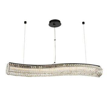 Allegri 037161052FR001 LED Isl Pendant Tamburo Matte Black w Polished - One Size (One Size - Clear)